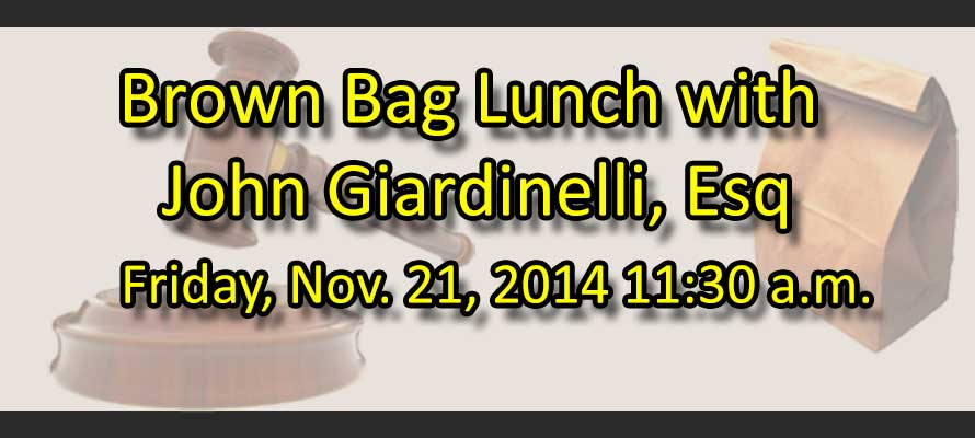 Brown Bag Lunch w/ John Giardinelli