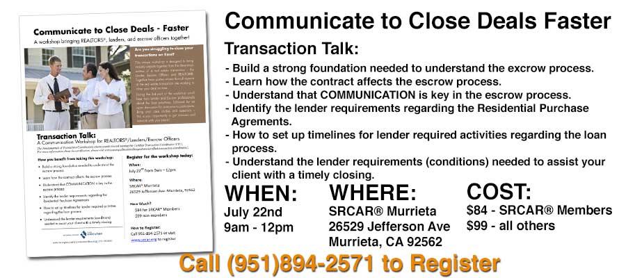 Transaction Talk