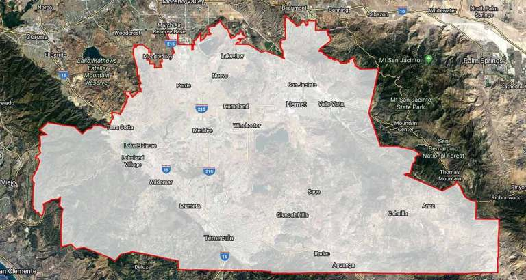SRCAR Jurisdiction Footprint Map