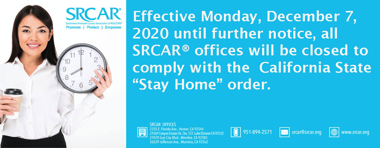 SRCAR Closed Banner